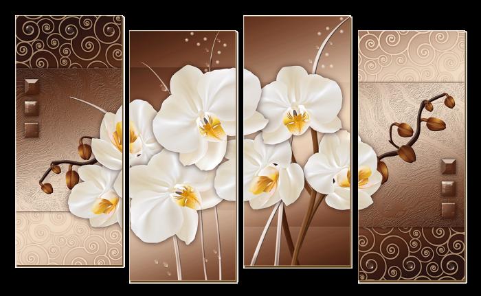 Модульная картина, Полиптих - Орхидея ...: art-design.md/445-modulnaya-kartina-poliptih-orhideya_11.html