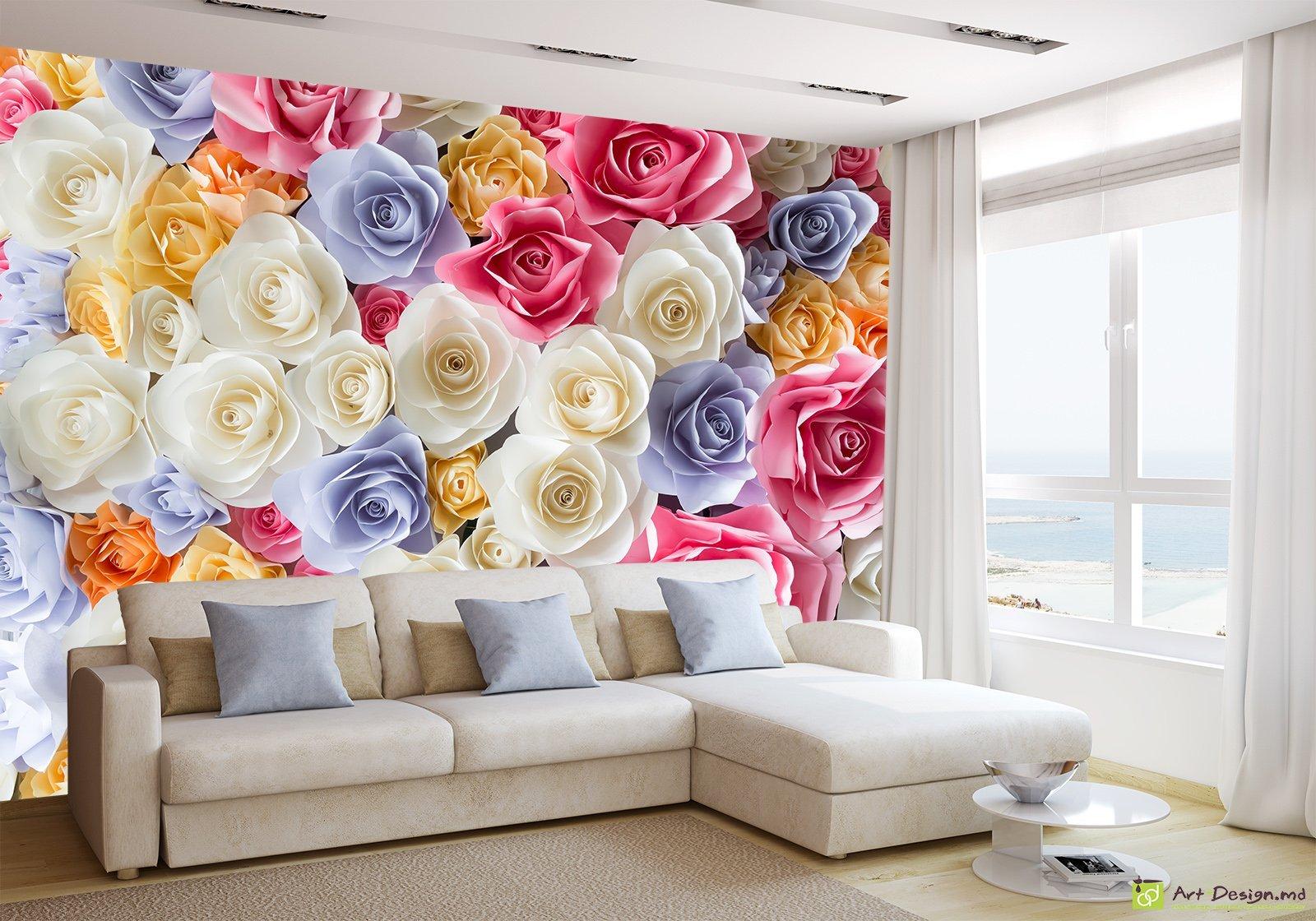фотообои цветы фото на стену