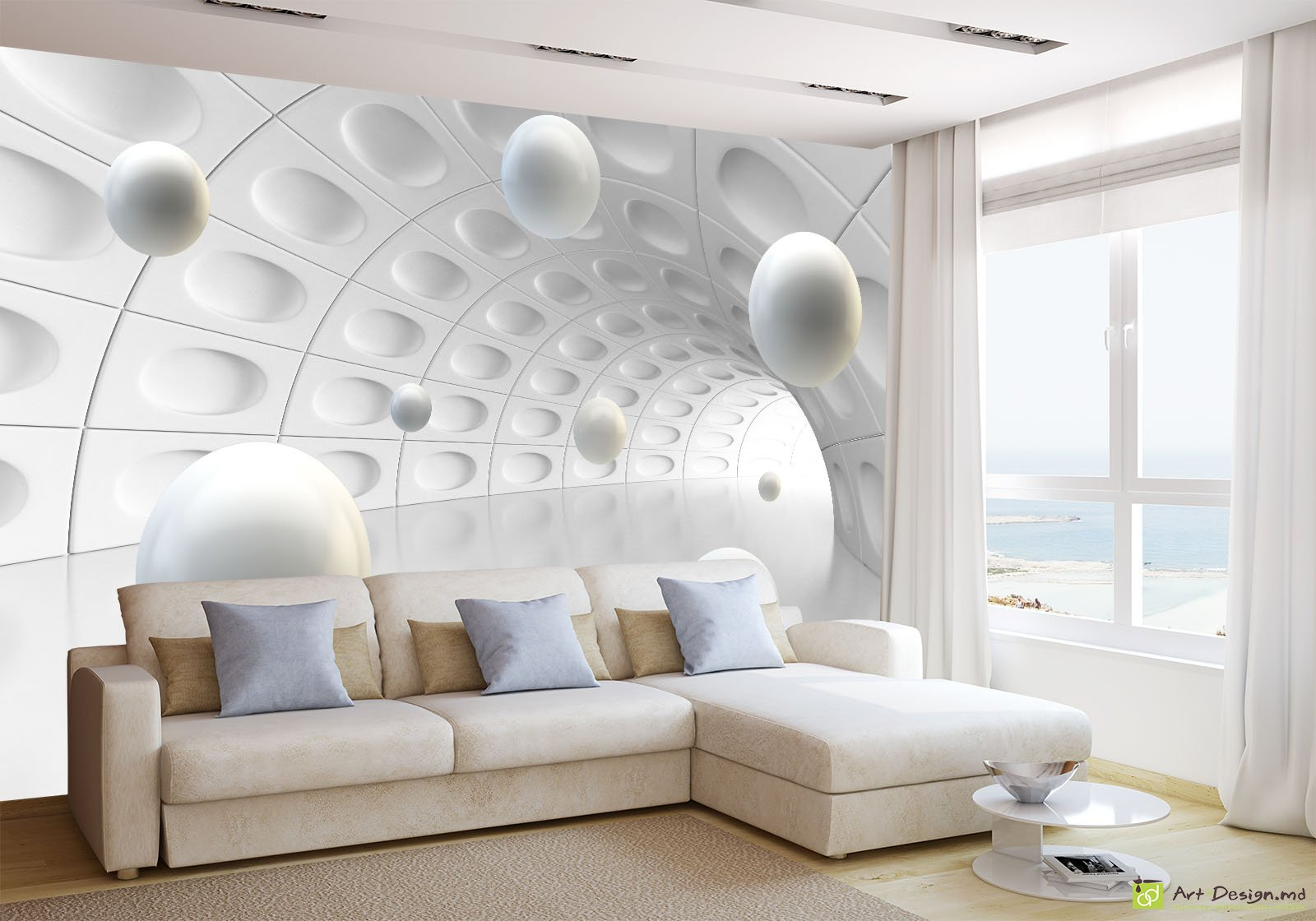 3d for Wallpaper for living area